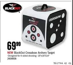 Bass Pro Shops Black Friday: BlackOut Crossbow Archery Target for $69.99