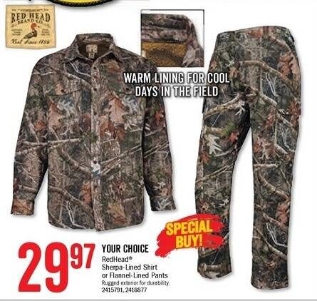 Bass Pro Shops Black Friday: RedHead Sherpa-Lined Pants for $29.97