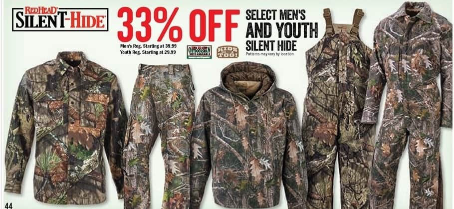 Bass Pro Shops Black Friday: Select Men's & Youth RedHead Silent Hide - 33% Off