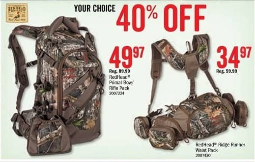 Bass Pro Shops Black Friday: RedHead Primal Bow/Rifle Pack for $49.97