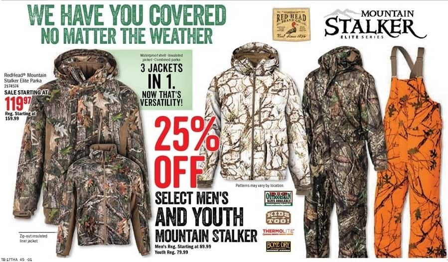 Bass Pro Shops Black Friday: Select Men's & Youth Mountain Stalker - 25% Off