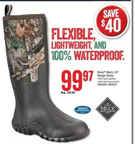 Bass Pro Shops Black Friday: The Original Muck Boot Company Ranger Boots for Men for $99.97