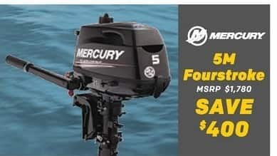 Bass Pro Shops Black Friday: Mercury 5M Fourstroke - Save $400
