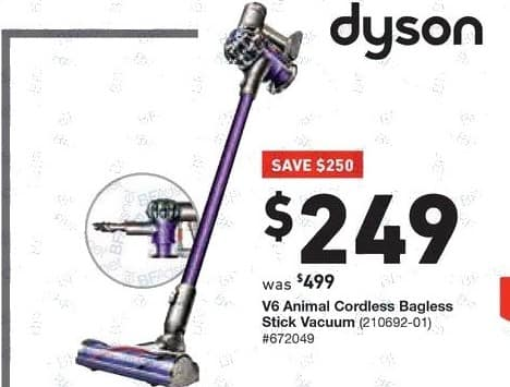 Image of: Amazon Lowes Black Friday Dyson V6 Animal Cordless Bagless Stick Vacuum For 24900 Slickdeals Lowes Black Friday Dyson V6 Animal Cordless Bagless Stick Vacuum