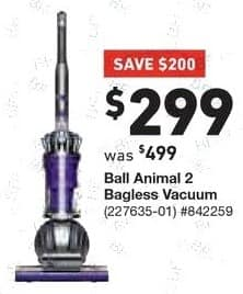 Lowe's Black Friday: Dyson Ball Animal 2 Bagless Upright Vacuum for $299.00