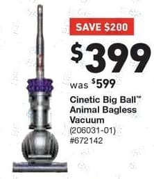 Lowe's Black Friday: Dyson Cinetic Big Ball Animal Bagless Upright Vacuum for $399.00