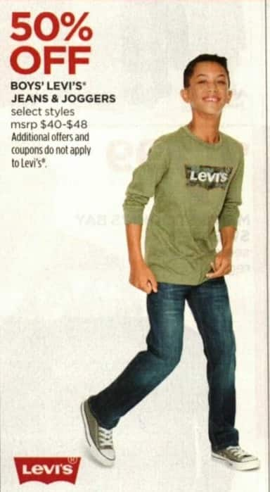 JCPenney Cyber Monday: Boys' Levi's Jeans & Joggers - 50% Off