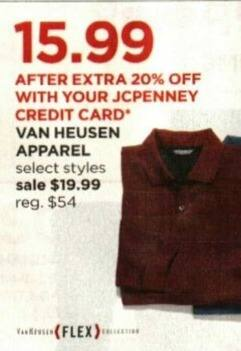 JCPenney Cyber Monday: Select Van Heusen Apparel + Extra 20% off w/ JCP Card for $19.99