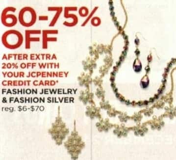 JCPenney Cyber Monday: Fashion Jewelry & Fashion Silver + Extra 20% off w/ JCP Card - 60-75% Off