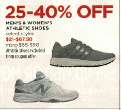 JCPenney Cyber Monday: Select Men's & Women's Athletic Shoes - 25-40% Off