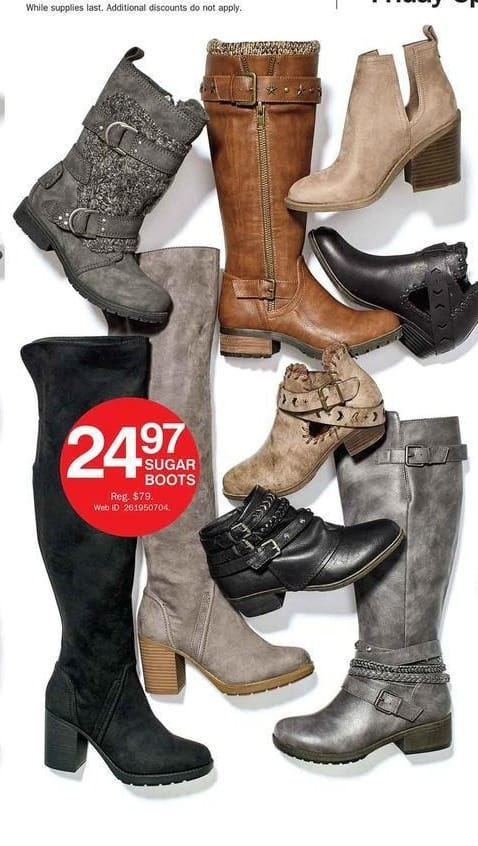 Bon-Ton Black Friday: Sugar Boots for Her for $24.97