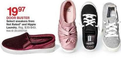 Bon-Ton Black Friday: Select Sneakers from Not Rated & Hippie Laundry for $19.97
