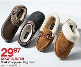 Bon-Ton Black Friday: Clarks Slippers for $29.97
