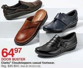 Bon-Ton Black Friday: Clarks Cloudsteppers Casual Footwear for $64.97