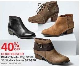 Bon-Ton Black Friday: Clarks Boots - 40% Off
