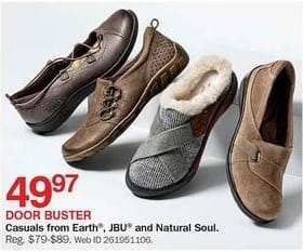 Bon-Ton Black Friday: Earth, JBU & Natural Soul Casual Shoes for $49.97