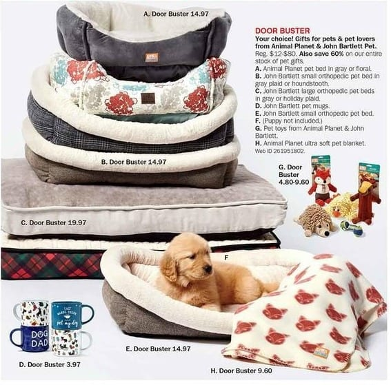 Bon-Ton Black Friday: Animal Planet and John Bartlett Pet Beds, Pet Mugs, Pet Toys & More for $3.97 - $19.97