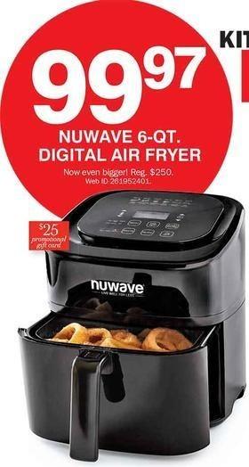 Bon-Ton Black Friday: Nuwave 6-qt Digital Air Fryer + $25 Promo Gift Card for $99.99