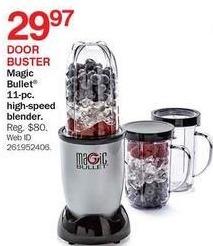Bon-Ton Black Friday: Magic Bullet 11-pc High Speed Blender for $29.97