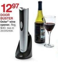 Bon-Ton Black Friday: Oster Wine Opener for $12.97
