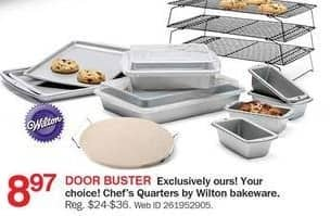 Bon-Ton Black Friday: Wilton Chef's Quarters Bakeware for $8.97