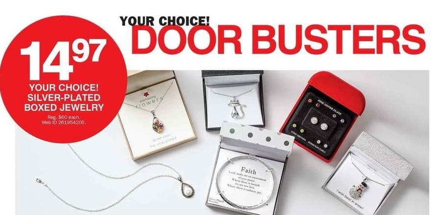 Bon-Ton Black Friday: Silver-Plated Boxed Jewelry for $14.97