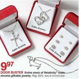 Bon-Ton Black Friday: Relativity Cubic Zirconia Giftable Jewelry for $9.97
