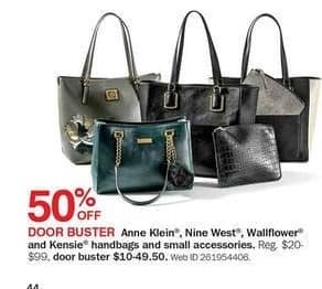 Bon-Ton Black Friday: Anne Klein, Nine West, Wallflower & Kensie Handbags and Small Accessories - 50% Off