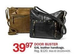 Bon-Ton Black Friday: GAL Leather Handbags for $39.97