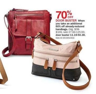 Bon-Ton Black Friday: Select Clearance Handbags - 70% Off