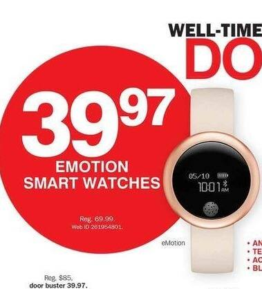 Bon-Ton Black Friday: Emotion Smart Watches for $39.97