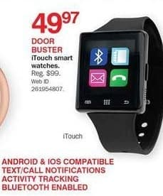 Bon-Ton Black Friday: iTouch Smart Watches for $49.97