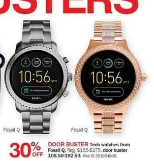 Bon-Ton Black Friday: Fossil Q Tech Watches - 30% Off
