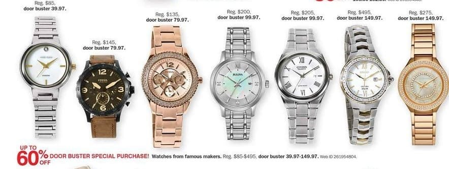 Bon-Ton Black Friday: Famous Maker Watches - Up to 60% Off