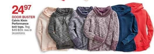 Bon-Ton Black Friday: Calvin Klein Performance Knit Tops for $24.97