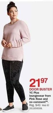 Bon-Ton Black Friday: YC Plus Loungewear from Pink Rose & No Comment for $21.97