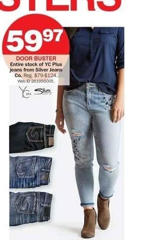 Bon-Ton Black Friday: Entire Stock of YC Plus Jeans from Silver Jeans Co for $59.97