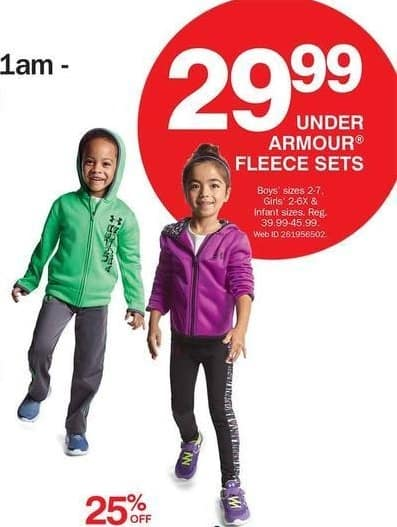 Bon-Ton Black Friday: Under Armour Fleece Sets for Kids & Infants for $29.99