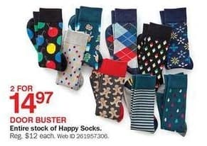 Bon-Ton Black Friday: (2) Entire Stock of Happy Socks for $14.97