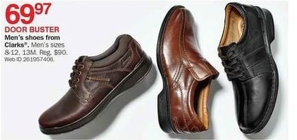 Bon-Ton Black Friday: Clarks Shoes for Men for $69.97