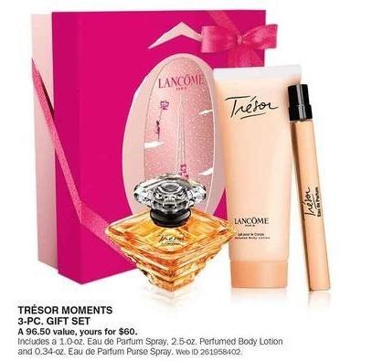 Bon-Ton Black Friday: Lancome Paris Tresor Moments 3-pc Gift Set for $60.00