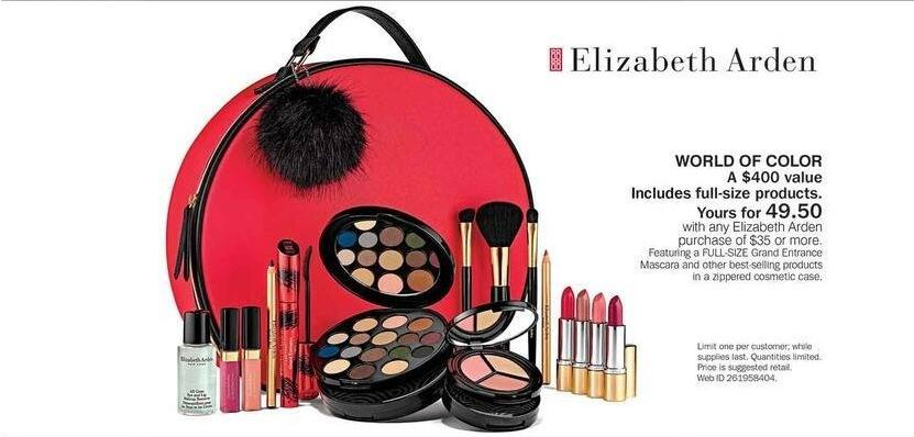 Bon-Ton Black Friday: Elizabeth Arden World Of Color w/ Any Elizabeth Arden Purchase of $35 or More for $49.50