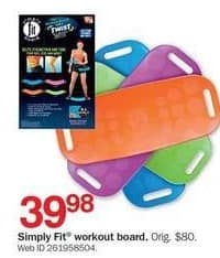 Bon-Ton Black Friday: Simply Fit Workout Board for $39.98