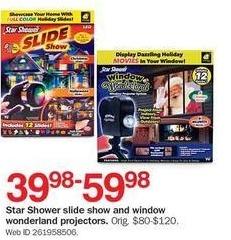 Bon-Ton Black Friday: Star Shower Slide Show & Window Wonderland Projectors for $39.98 - $59.98