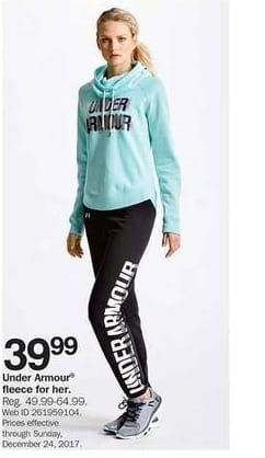 Bon-Ton Black Friday: Under Armour Fleece for Her for $39.99