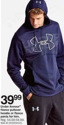 Bon-Ton Black Friday: Under Armour Fleece Pullover Hoodie or Fleece Pants for Him for $39.99