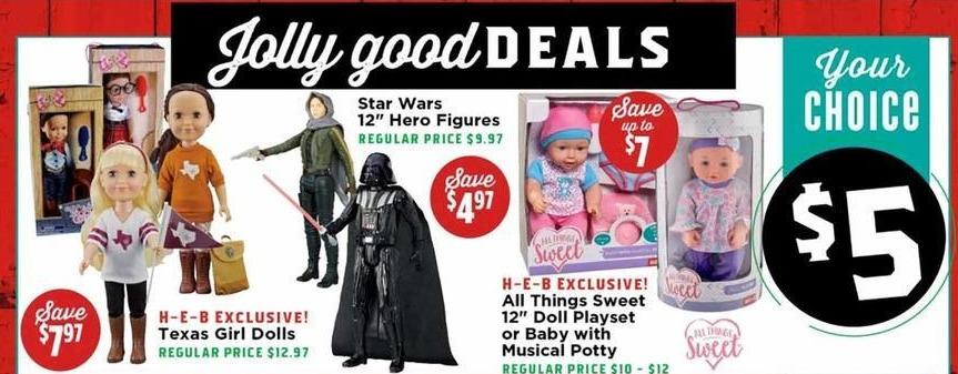 """H-E-B Black Friday: Star Wars 12"""" Hero Figures for $5.00"""