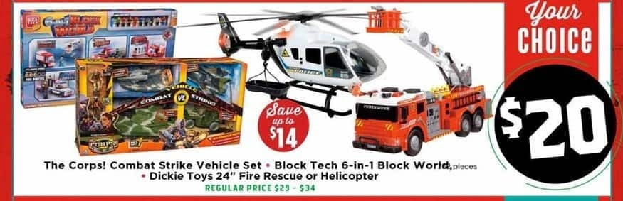 """H-E-B Black Friday: Dickie Toys 24"""" Fire Rescue or Helicopter for $20.00"""