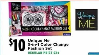 H-E-B Black Friday: Unique Me 5-in-1 Color Change Fashion Set for $10.00