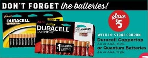 H-E-B Black Friday: Duracell Coppertop 16-pk AA or AAA Batteries w/ In-Store Coupon - Save $5